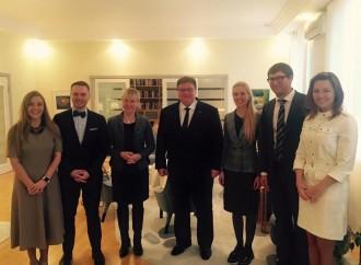 Альона Шкрум взяла участь у зустрічі з головами МЗС Швеції та Литви