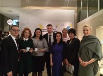 Альона Шкрум та Олексій Рябчин взяли участь в Українському сніданку в Давосі