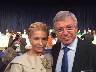 Юлія Тимошенко та екс-прем'єр-міністр Норвегії Кьєлл Магне Бондевік на Молитовному сніданку у США
