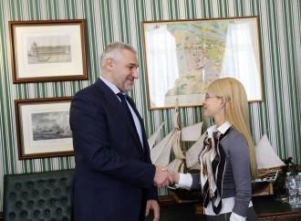 Лідер «Батьківщини» Юлія Тимошенко зустрілася з адвокатом Надії Савченко Марком Фейгіним