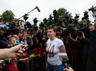 Надія Савченко: Я - на волі! Київ, 25.05.2016.
