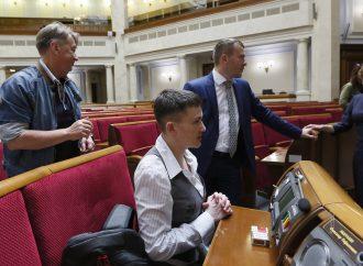 Надія Савченко вперше побувала у Верховній Раді