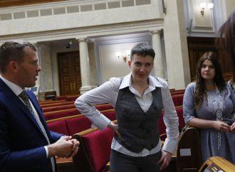 Надія Савченко вперше побувала у Верховній Раді, 27.05.2016