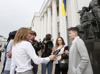 Надія Савченко та її перший робочий день у парламенті. ВРУ, 31.05.2016.