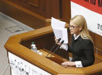 Юлія Тимошенко: Ми вимагаємо публічного обговорення проекту Меморандуму співпраці з МВФ (документ)