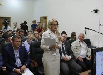 Під час засідання суду за позовом Юлії Тимошенко проти уряду, 31.08.2016