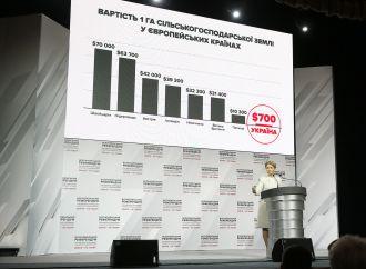 Сьогодні стартує процедура організації референдуму проти продажу землі, – Юлія Тимошенко
