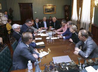 Зустріч Юлії Тимошенко з представниками Міжнародної антикорупційної консультативної ради, 06.09.2017