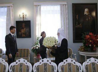 Юлія Тимошенко привітала Святійшого Патріарха Філарета із 22-річчям Патріаршої інтронізації, 23.10.2017