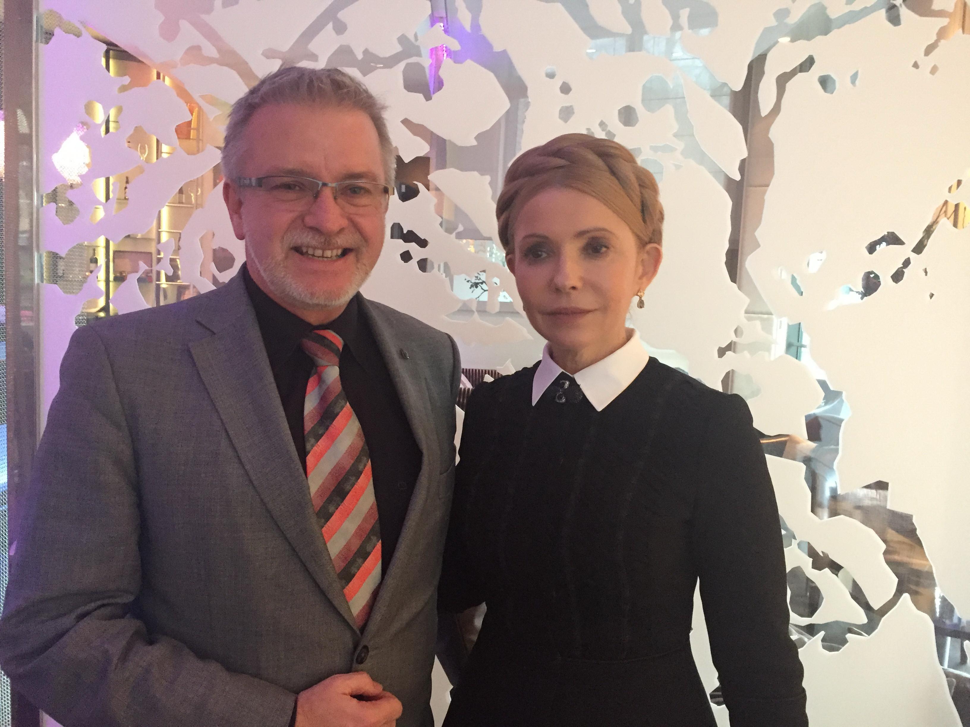 Юлія Тимошенко з депутатом Європарламенту від Німеччини Міхаелем Галером