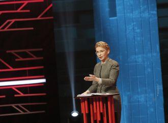 Юлія Тимошенко під час ток-шоу «Український формат» на телеканалі «NewsOne», 20.12.2017
