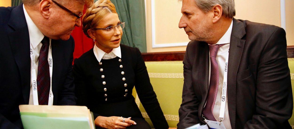 Юлія Тимошенко зустрілася з Єврокомісаром Йоганнесом Ханом