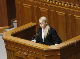 Юлія Тимошенко: Влада має негайно навести порядок у державі