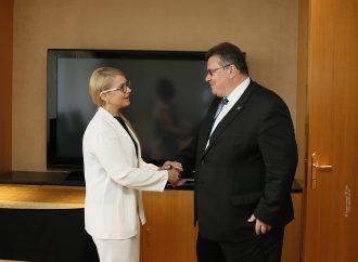 Юлія Тимошенко зустрілася з міністром закордонних справ Литви