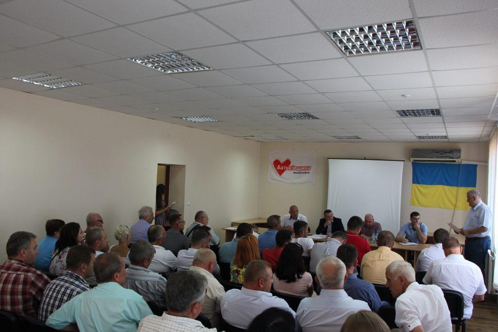 Іван Крулько взяв участь у засіданні бюро Закарпатської «Батьківщини»