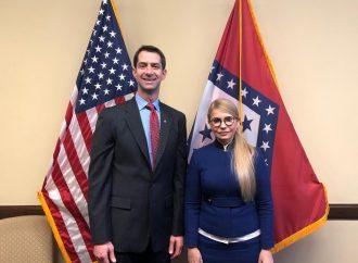 Юлія Тимошенко зустрілася з сенатором Томом Коттоном