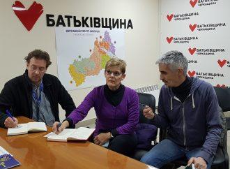 Черкаський «батьківщинівець» зустрівся зі спостерігачами місії ОБСЄ