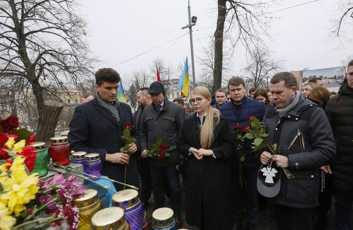 Юлія Тимошенко вшанувала пам'ять Героїв Небесної Сотні, 20.02.2019
