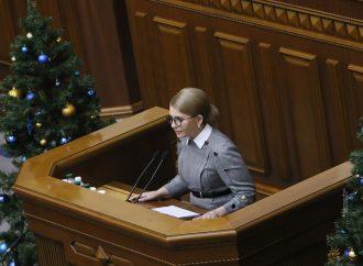 Виступ Юлії Тимошенко у Верховній Раді, 18.12.2019