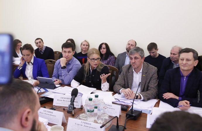 Виступ Юлії Тимошенко на засіданні комітету ВР з питань соціальної політики та захисту прав ветеранів, 15.01.2020