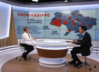 Юлія Тимошенко: Боротьбу з поширенням коронавірусу потрібно починати із захисту медичних працівників