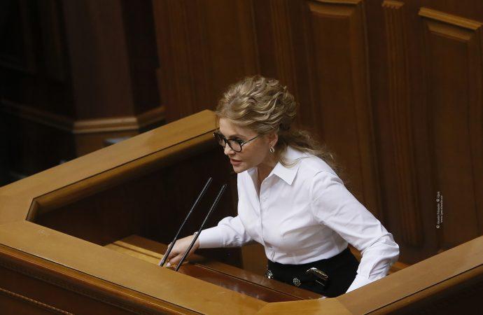 Виступ Юлії Тимошенко у Верховній Раді, 13.04.21