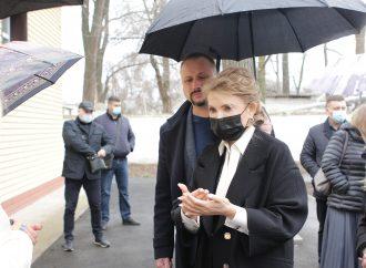 Пресконференція Юлії Тимошенко у місті Дніпро після візиту до обласних медзакладів, 04.04.21