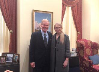 Юлія Тимошенко привітала Білла Нельсона з призначенням Директором NASA